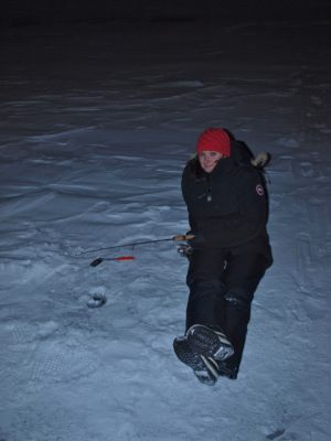 Ice Fishing on Great Slave Lake