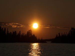 Esnagami Lake Sunset