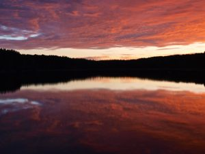 Petersen Lake - Evening Colours